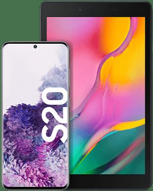 Samsung Galaxy S20 mit Tablet Detailansicht