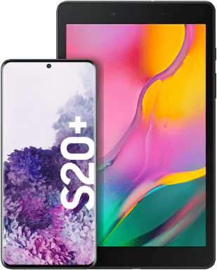 Samsung Galaxy S20+ 4G mit Tablet