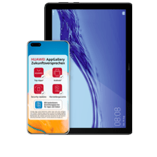 HuaweiP40 Pro mit Tablet