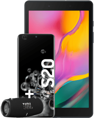 Samsung Galaxy S20 Ultra 5G mit Tablet