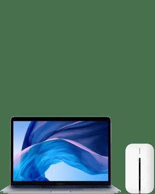 MacBookAir 13 mit Mobile Router Detailansicht