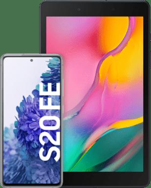 Samsung Galaxy S20 FE mit Tablet Detailansicht