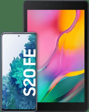 Samsung Galaxy S20 FE mit Tablet