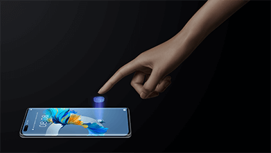 Fingerabdrucksensor im Huawei Mate 40 Pro Display