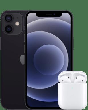 Apple iPhone 12 mini mit AirPods (2.Gen) mit o2 Free S Boost Flex mit 3+3 GB