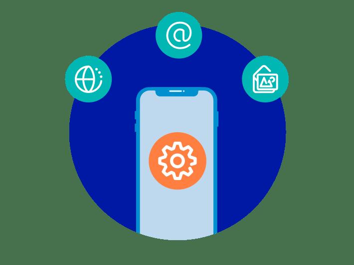 Smartphone einstellen für Internet, E-Mail und MMS