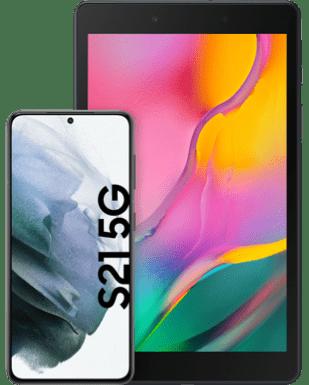 Samsung Galaxy S21 5G mit Tablet mit o2 Free S Boost Flex mit 6 GB