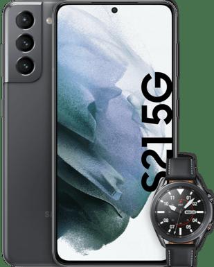 Samsung Galaxy S21 5G mit Watch 3 mit o2 Free M Flex mit 20 GB