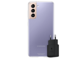Samsung Clear Cover S21 mit Charger