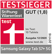 Testlogo Samsung Galaxy Tab S7+ 5G