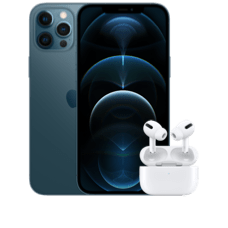 Apple iPhone 12 Pro Max mit AirPods Pro