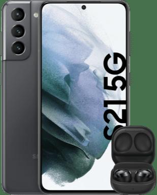 Samsung Galaxy S21 mit Buds Pro Detailansicht