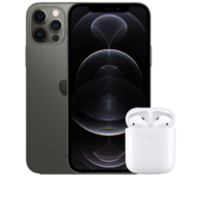 Apple iPhone 12 Pro mit AirPods