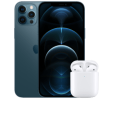 Apple iPhone 12 Pro Max mit AirPods