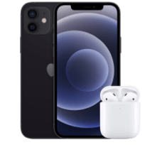 Apple iPhone 12 mit AirPods