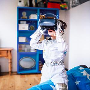 Wechselservice Kind mit 3D-Brille