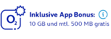 Inklusive App Bonus: 10 GB und mtl. 500 MB gratis